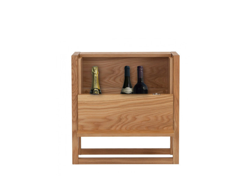 Mini bar design bois massif newest - couleur - bois massif 121226101012
