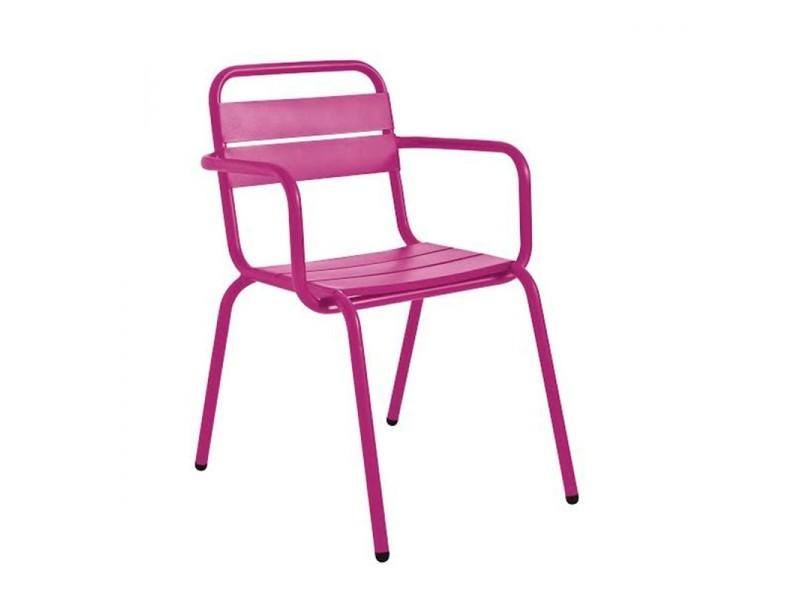 Visalia - fauteuil de jardin design métal - couleur - pourpre 8006 ...