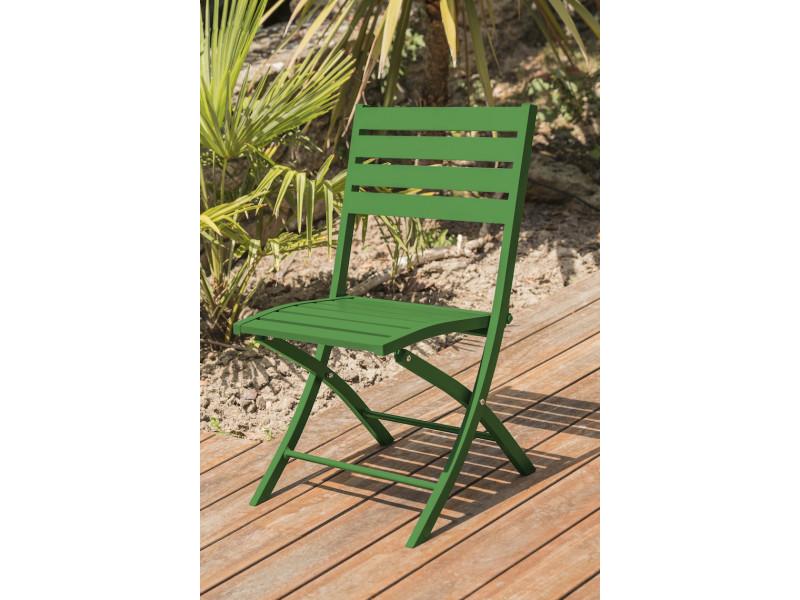 Chaise de jardin marius pliante verte - Vente de HOUSE AND ...