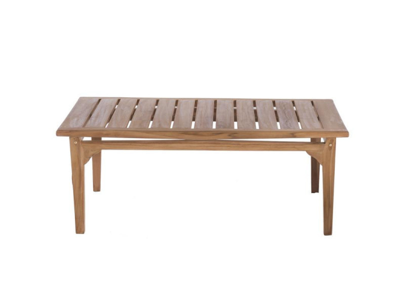 Table basse d\'extérieur en bois de teck - halaveli - l 120 x l 60 ...