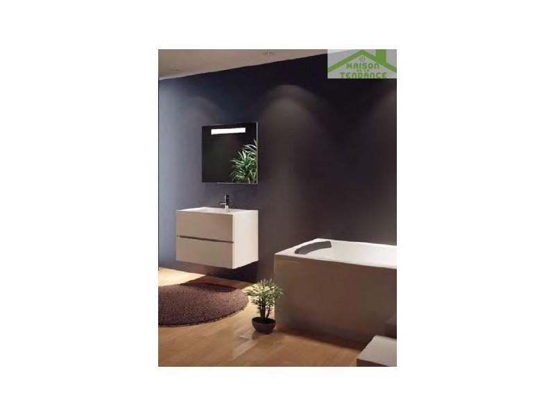 Ensemble meuble & lavabo riho cambio stretto set 07 80x38x h 58 cm - bois laqué brillant FSR080Z01DDDS07