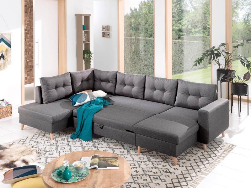 vente chaude en ligne b2430 22860 nordic - canapé scandinave d'angle gauche panoramique ...
