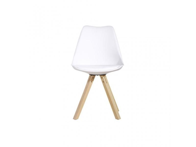 avec pieds Vente Sylvie chaise blanche en bois 430600lot1 thsQrdCx