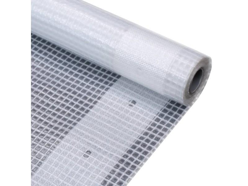 Distingué accessoires de quincaillerie serie doha bâche leno 260 g/m² 1,5 x 15 m blanc