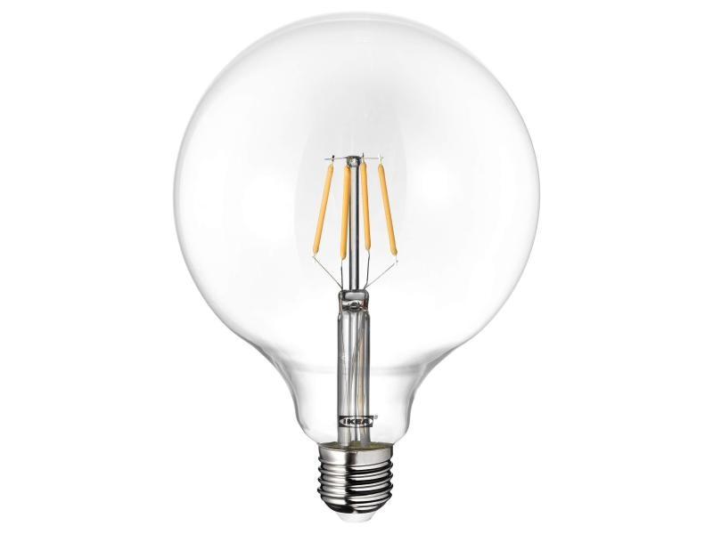 Ampoule globe à filament ikea lunnom e27 600 lm grande 125 mm led