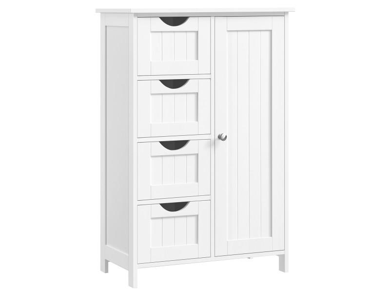 Meuble de salle de bain sur pied de vasagle, meuble de rangement ...