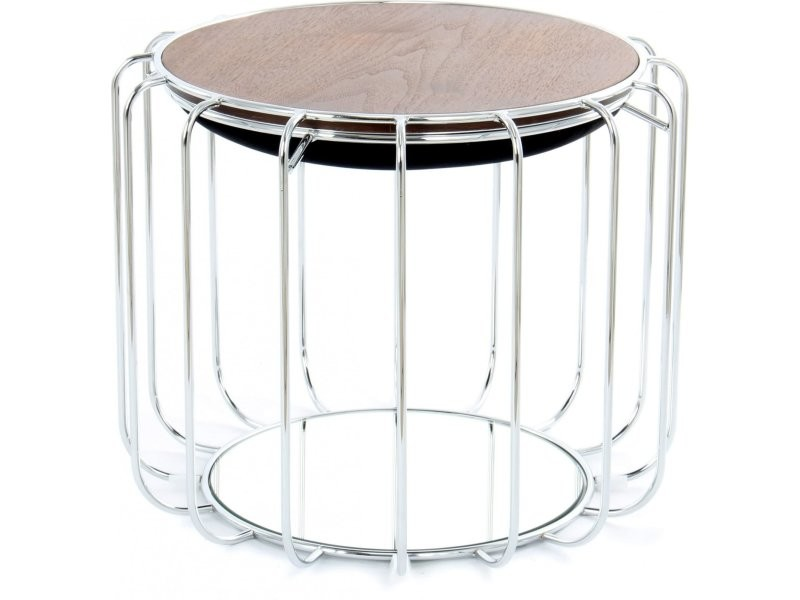 Pouf reverse table d'appoint confortable silver ZXV2F