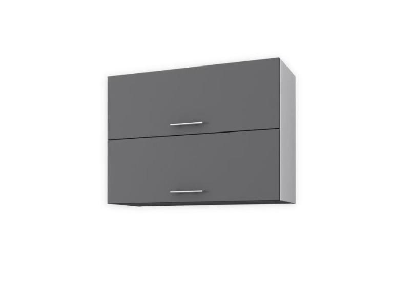 Obi meuble haut de cuisine l 80 cm - gris mat - Vente de Buffet ...