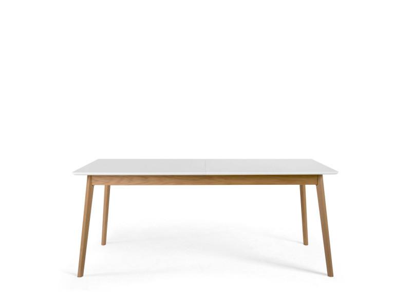 Skoll - table à manger extensible 180-230x80cm - couleur - blanc cassé 180001