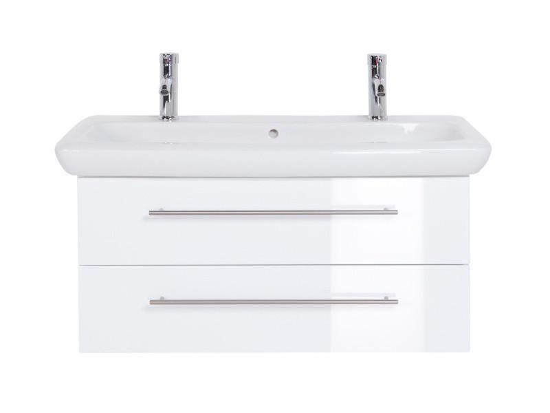 Meuble sdb avec vasque de keramag it! 100 cm à double vasque ...