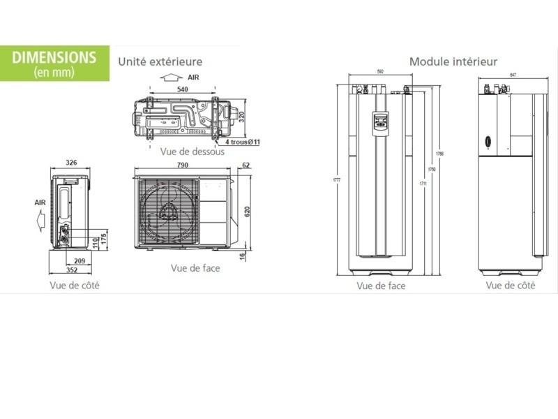 Pompe à Chaleur Vern-sur-Seiche → Devis/Coût : Installation PAC Air-Eau, Aerothermie