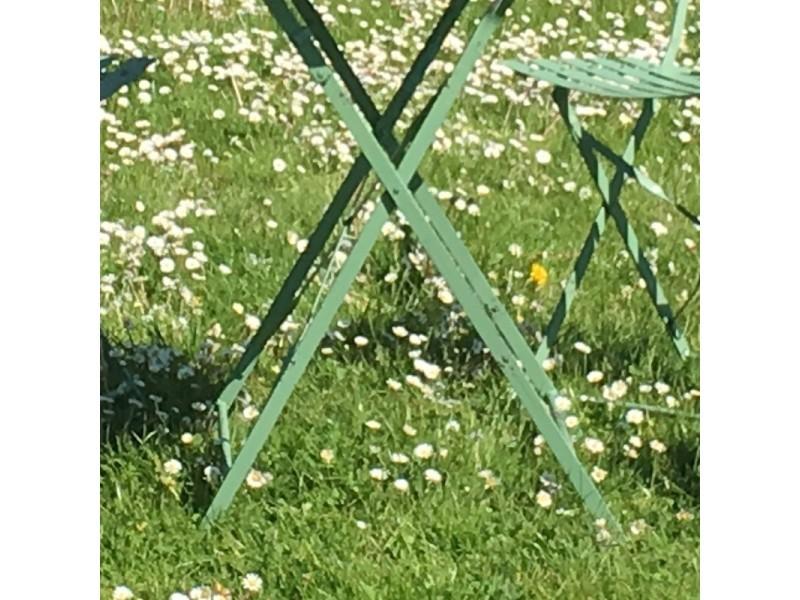 Table 4 chaises de jardin en fer pliable salon de jardin ...