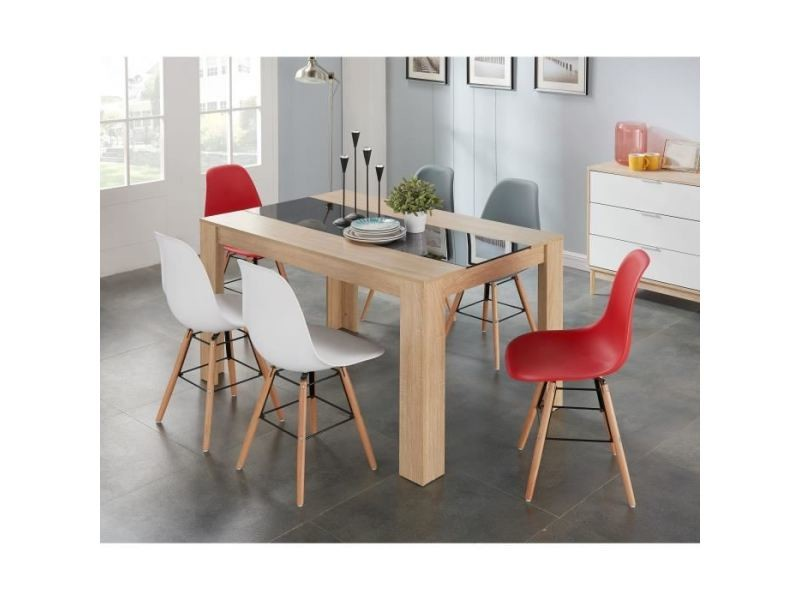 Chaise Rena Chaise Salle A Manger Blanc Pieds Bois Hetre
