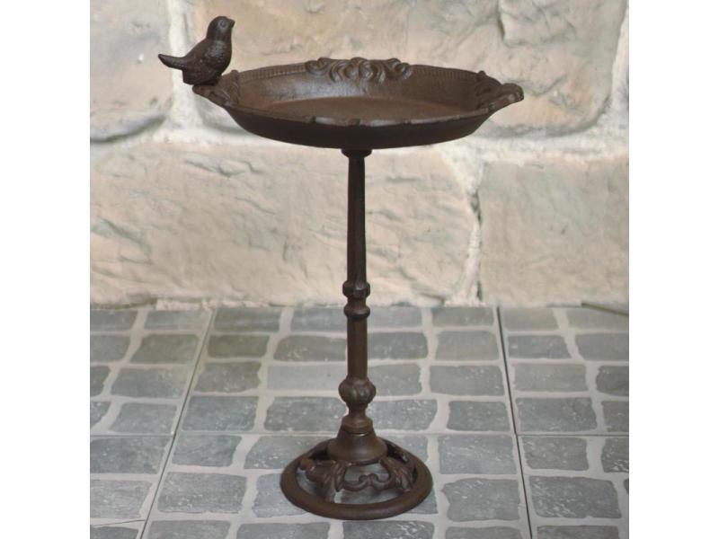 fontaine bain doiseaux Abreuvoir sur pied en fonte