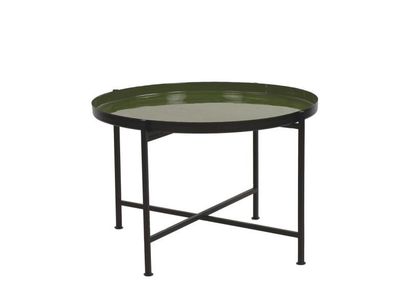 Favorit' - table basse plateau amovible - couleur - noir 34404-OLI