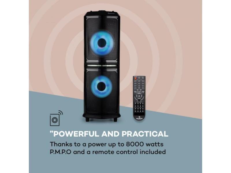 auna Clubmaster 8000 Système Audio Bluetooth Sono Portable 2 subwoofers 10 USB Radio portables