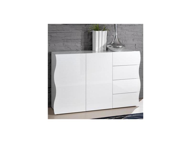 Buffet blanc laqué design selene - Vente de NOUVOMEUBLE - Conforama