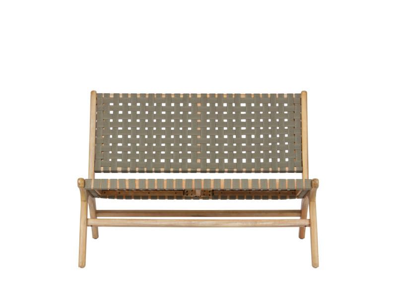 Frame - banquette lounge indoor/outdoor en bois - couleur - vert ...