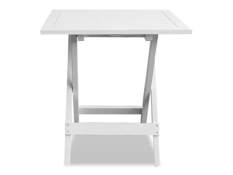 Icaverne - tables d'extérieur edition table basse d'extérieur bois d'acacia blanc