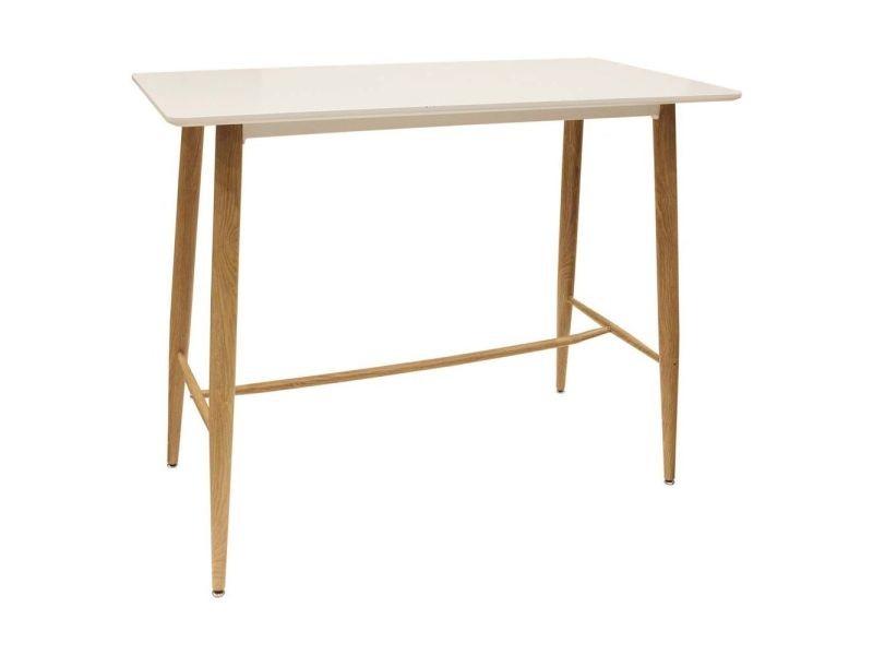 Table mange debout plateau blanc scandinave