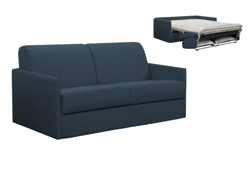 3 Canapé En Ouverture Denim Convertible Louna Tissu Places Slim Bleu PXOikZu