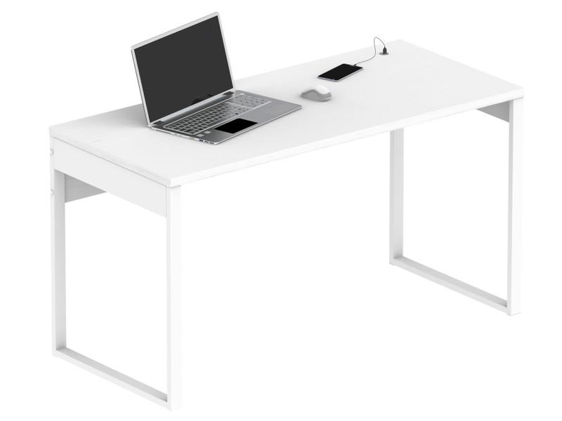 Bureau coloris blanc - hauteur 76 x longueur 135 x profondeur 60 cm