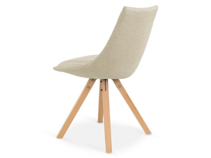 Lot de 6 chaises scandinaves thilda tissu beige Vente de