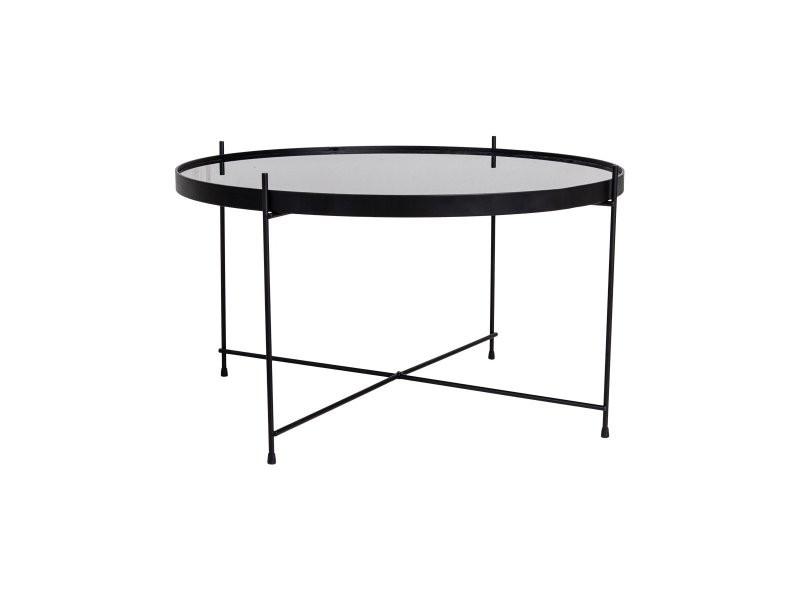 Table basse ronde en métal 70cm plateau verre natou 2101200