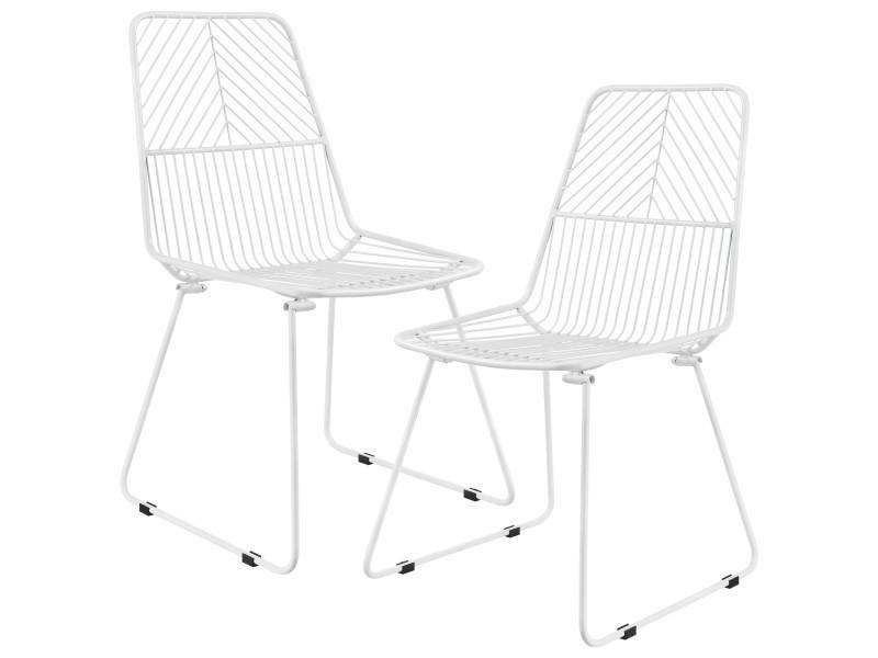 kit casa en blanc en en chaise métal 2 Vente de ® de xdCoeWrB