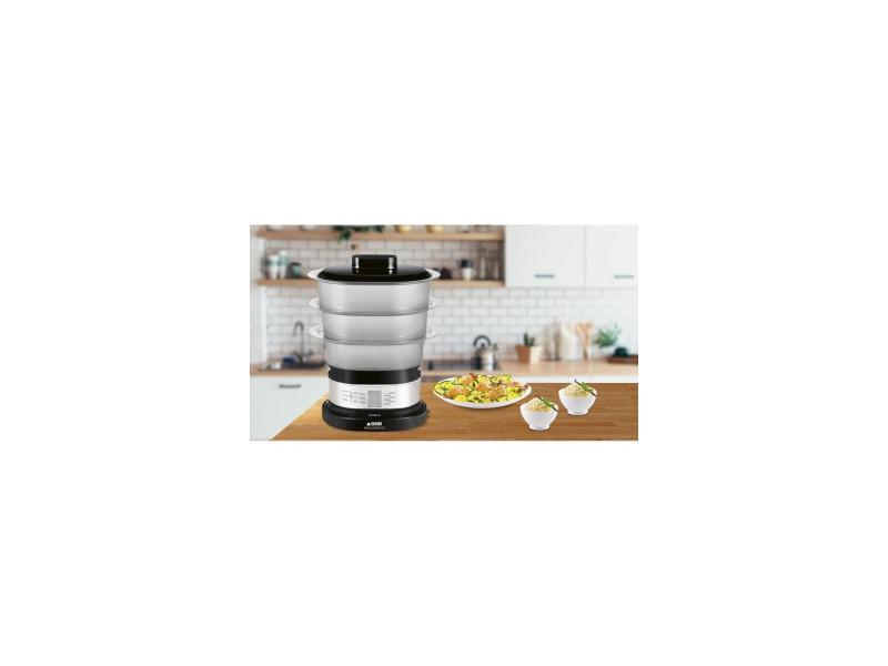 Seb vc 138800 - cuiseur vapeur compact - ideal pour 2 personnes - 2200w noir et inox SEB3045386358908