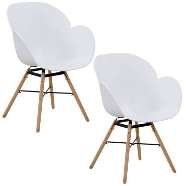 Chaise 2 Conforama Blanches Vente Chaises Sitia Scandinaves De 9D2IEH