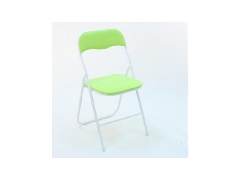 Chaise pliante trend vert anis