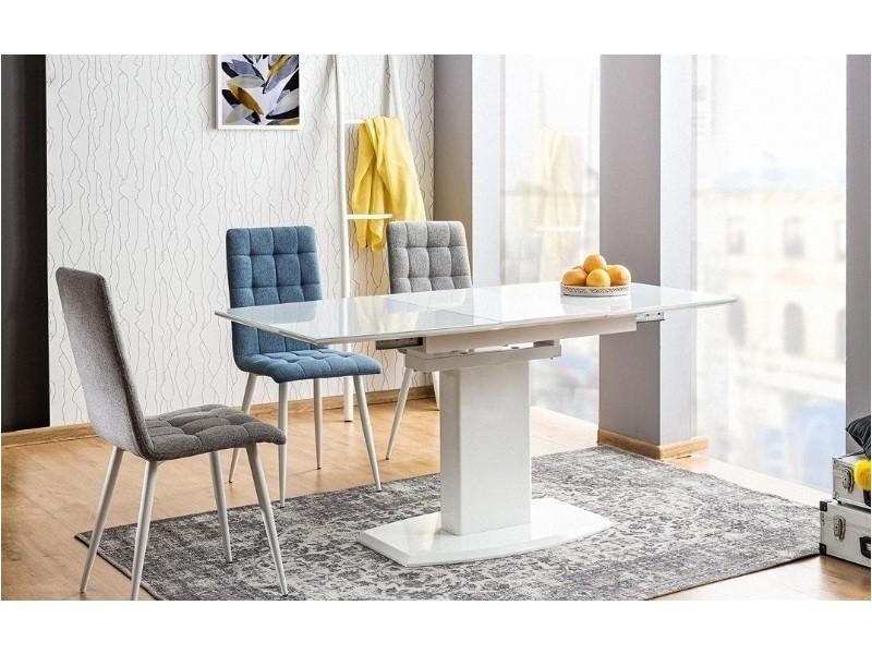 Table à manger rectangulaire extensible 120 ÷ 160 cm x 80 cm x 76 cm