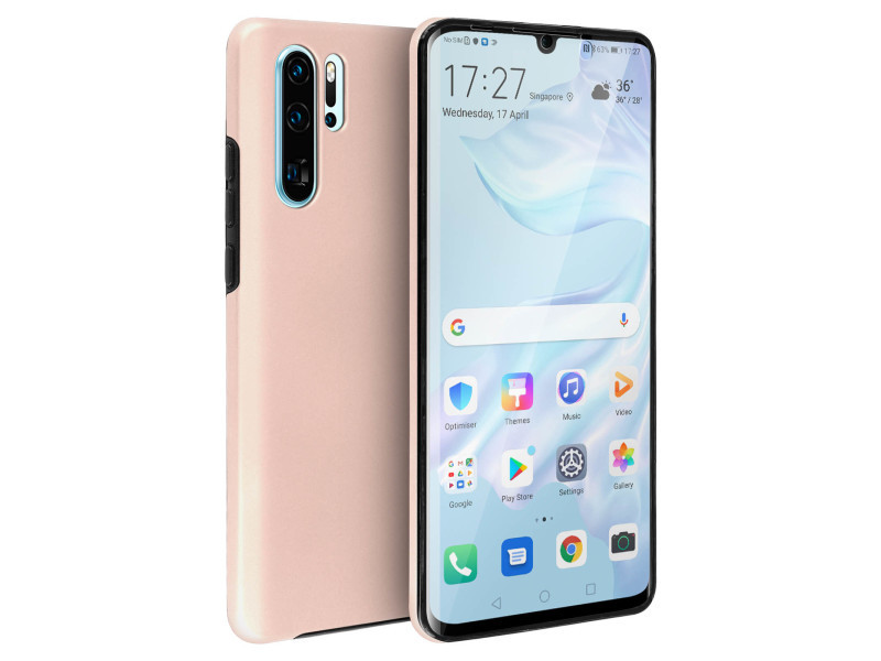 coque huawei p30 pro silicone rose