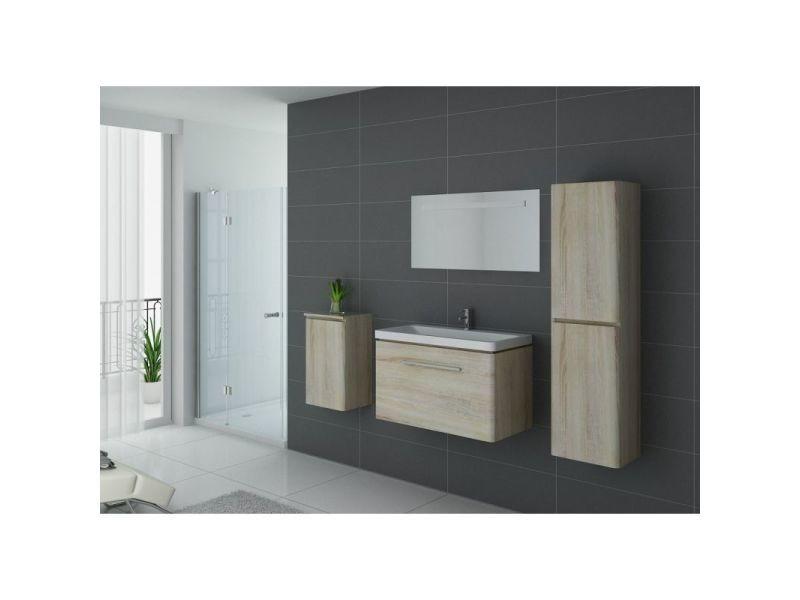 Meuble de salle de bain simple vasque sorrento scandinave ...