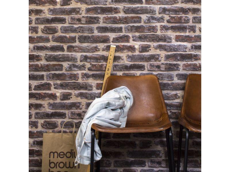 Papier Peint Vinyle Graine Intisse Effet Mur De Briques