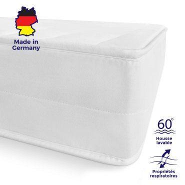 Mister Sandman Matelas Confort Mousse H2/&H3 Matelas roul/é Durable fermet/é 2en1 /épaisseur 10 cm pour Une Nuit paisible Matelas b/éb/é Oeko-TEX 60 x 120 cm d/éhoussable