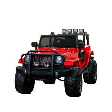 3b88f0124ab49 Grand 4x4 voiture électrique pour enfant 24 volts rouge luxe pneus gomme eva  24v Jeep 24V rouge babypro - Vente de VOITURE ELECTRIQUE - Conforama