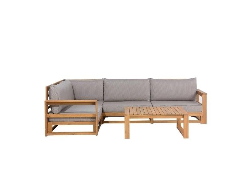 Salon de jardin en bois d\'acacia timor 55823 - Vente de BELIANI ...