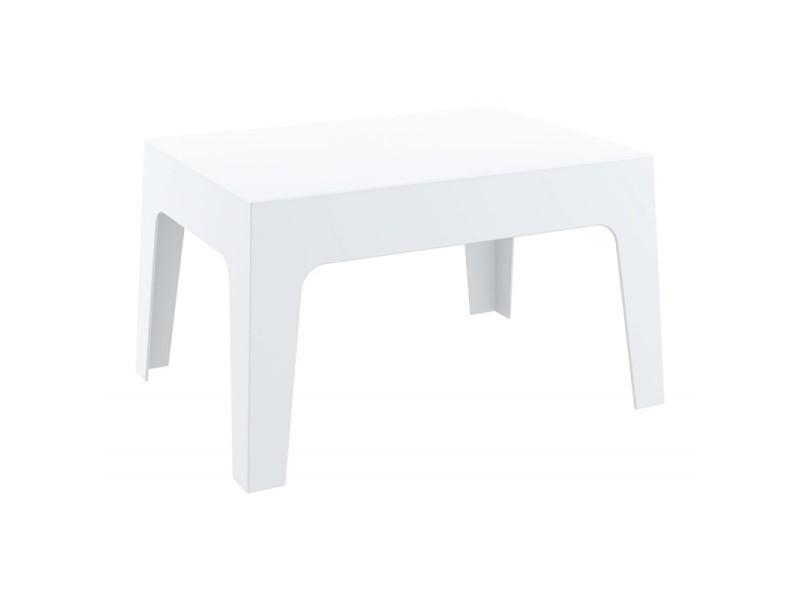 Table basse de jardin en plastique blanc 50x70x43 cm ...