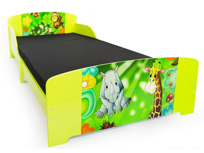 Lit Enfant Motif Jungle, H60 X L96 X P203 Cm  Pegane