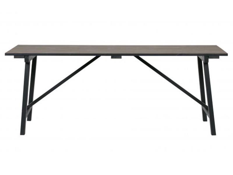 Table coloris smoke en pin massif - dim: 76 x 220 x 90 cm -pegane-
