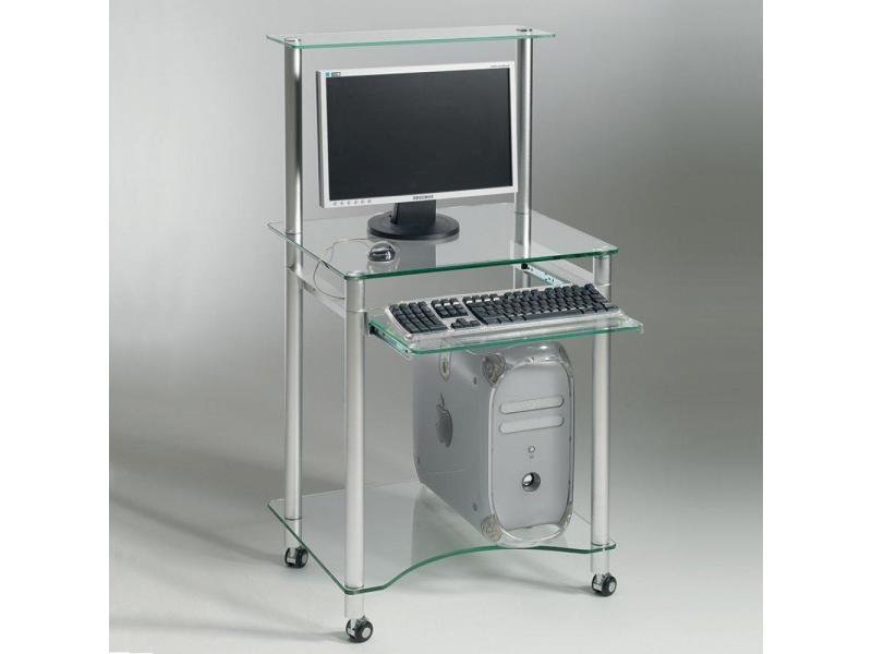Zani bureau en verre transparent vente de bureau