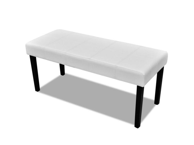 banc banquette pouf 106 cm blanc salon salle à manger chambre