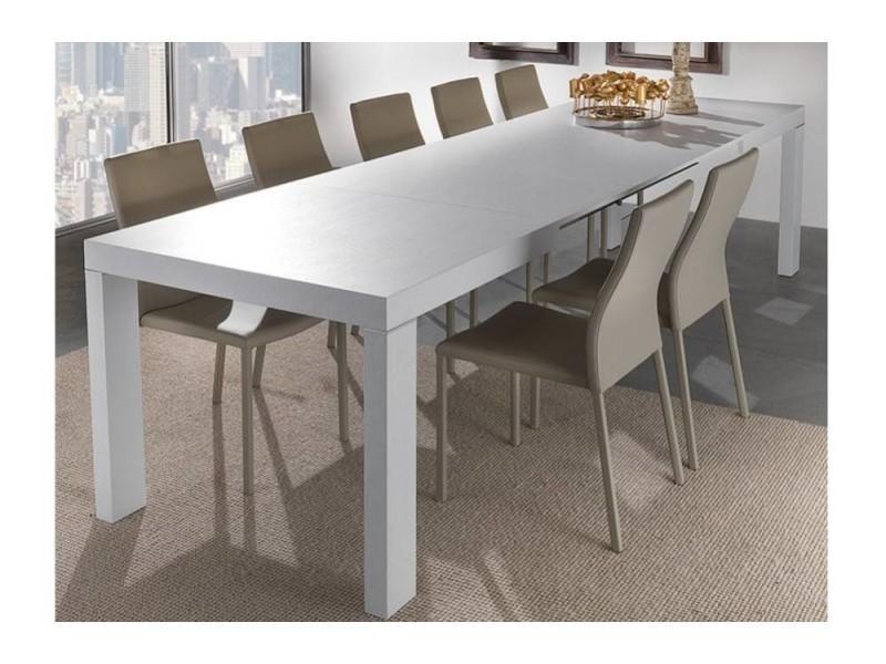 Table repas extensible wind design blanche 140 cm 20100850617