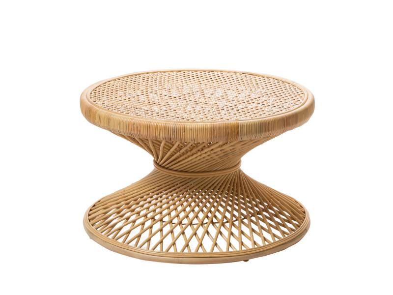 Table L Vintage Ø80 Couleur Ushuaia Basse Rotin Naturel En 0OmyN8Pvnw