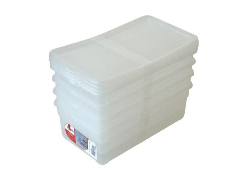 taille 40 df4f6 daff5 Boite de rangement - bac de rangement lot de 4 boîtes de ...
