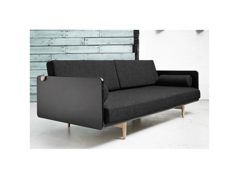 Style Grey Dark Scandinave Lit Deva Couchage 100 200cm Canapé AR5jL34
