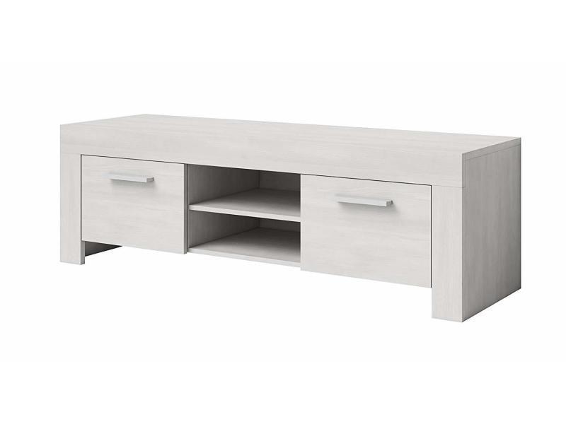 Meuble tv armoire chêne support rome blanc 160 cm …