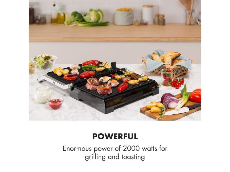 Klarstein buffalo grill contact pour panini & toasts